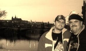 Us together in Prague, Czech Republic for my birthday 06.